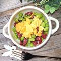 枝豆とサラミとチーズの2分で簡単おつまみ(子供もくせになるおつまみ)