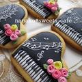 ピアノのアイシングクッキー&ラッピング