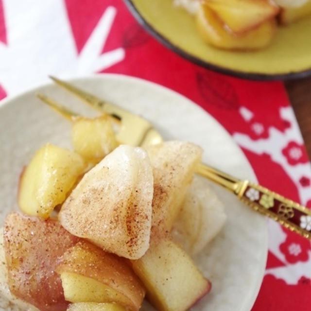 ココナッツオイルでキャラメル餅リンゴ