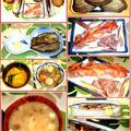 秋刀魚の塩焼きに活き殻付き赤貝のお刺身