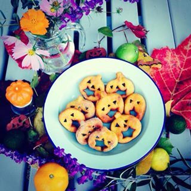 ハロウィンかぼちゃドーナツ☆卵不要
