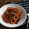 アスパラとイカのピリ辛トマト煮@イオン・ザ・テーブル㊾ by 管理栄養士/フードコーディネーター りささん