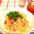 Fトマトとオリーブの大人スパゲティー