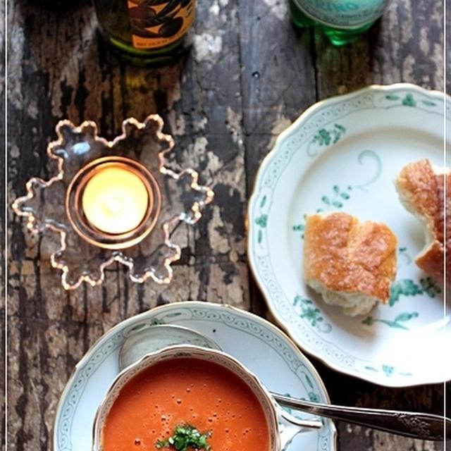 クリーミーなトマトのあったかスープ