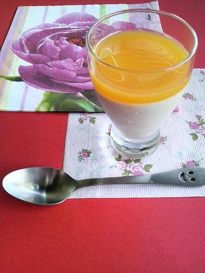 アボカドとオレンジのムース
