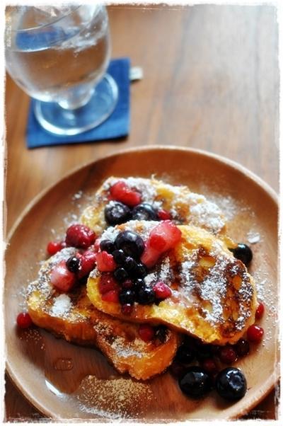 フランスパンでフレンチトーストの朝ごはんと隅田川花火大会