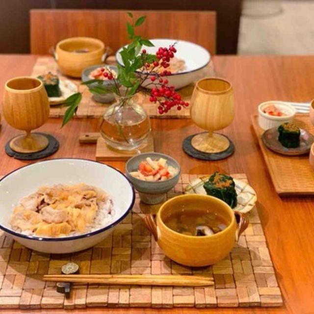 【レシピ・献立】小車麩でかさまし豚丼献立と副菜レシピ