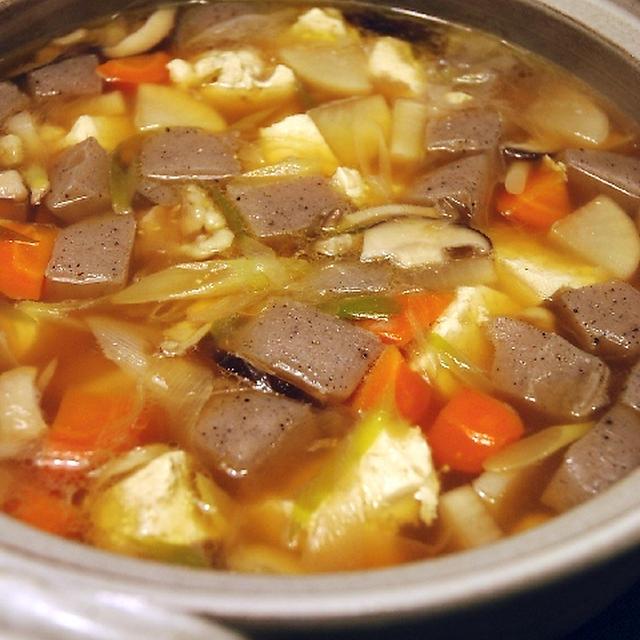 土鍋でどーーんとけんちん汁