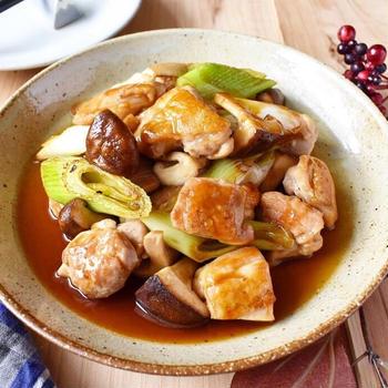 冷凍庫の中身と、旨みプラス【鶏肉とネギと椎茸のオイスター照り焼き】