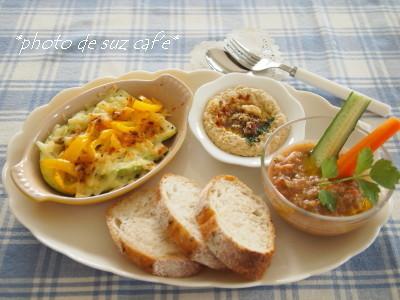 たっぷり夏野菜 de ワンプレート朝食。。。