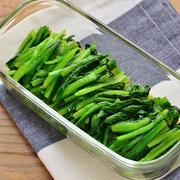 ピリッと美味しい。小松菜のわさび風味おひたし
