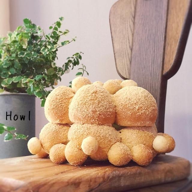 練乳ミルク&きな粉の3Dちぎりパン(*´︶`*)TED♡