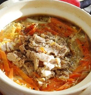 生姜でほかほか豚バラキャベツ鍋
