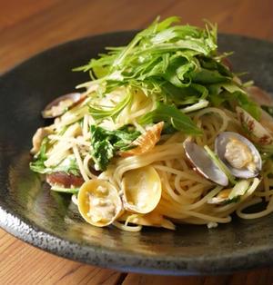 あさりと水菜の和風ボンゴレ