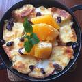 朝食はスキレットで作るオレンジ香るフレンチトースト~♪♪