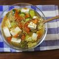 ひんやり 激うま!トマトときゅうりの豆腐じゅんさいスープ