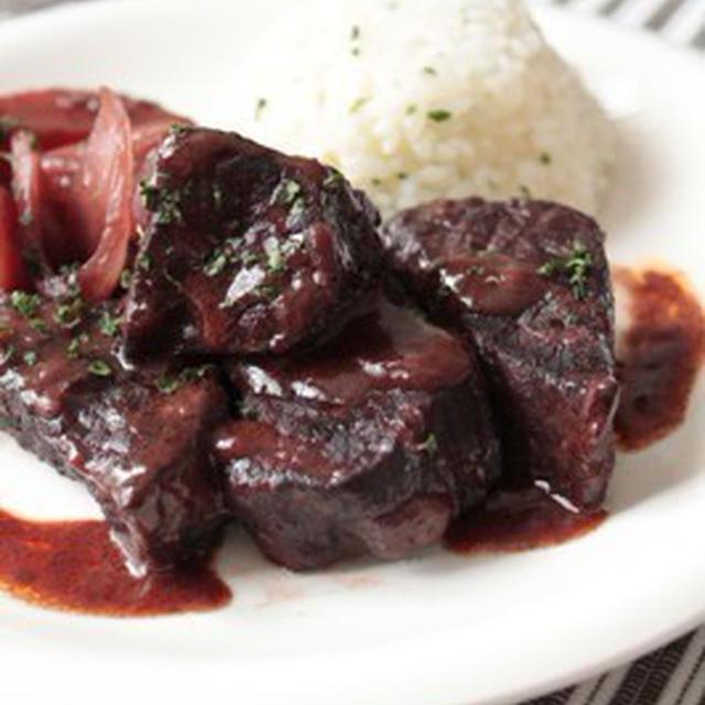 牛肉の赤ワイン煮込み♪