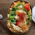 【お弁当】揚げずに簡単♪人気のエビマヨと常備菜のリメイク弁当
