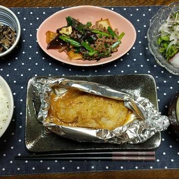 【晩ごはん】しょっぱいお魚・・・