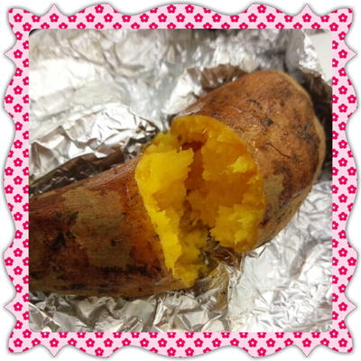 オーブンで簡単!蜜たっぷり♪安納芋の焼き芋(レシピ付)