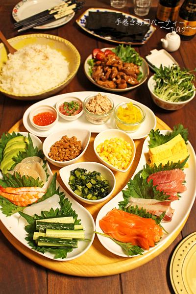 母の日のお祝い☆3世代手巻き寿司パーティー
