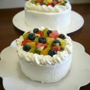 「よろこばレシピ」にレシピ投稿しました★4号のフルーツデコレーションケーキ♪