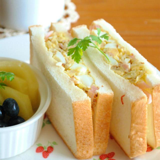 ヘルシー♪ザワークラウトと茹で卵のマスタードサンド ☆