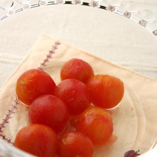 """つるんと美味しい夏のデザート♪「ミニトマトのコンポート """"妊婦さんや子供にも◎""""」"""