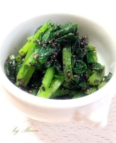 ほど塩*小松菜の胡麻和え