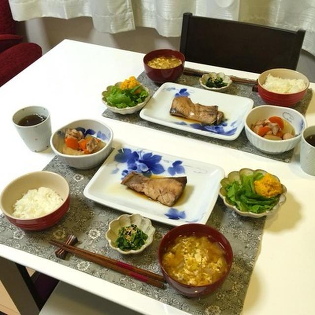 和食にあこがれて。ビュッフェキャセロールでぶりの煮付け。
