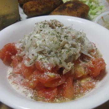 さっぱりツナと玉葱のトマトサラダ