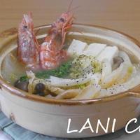 有頭海老の塩味お鍋