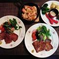 お野菜たっぷり海老もお肉もある晩御飯☆海老のハーブパン粉焼き♪~♪ by みなづきさん