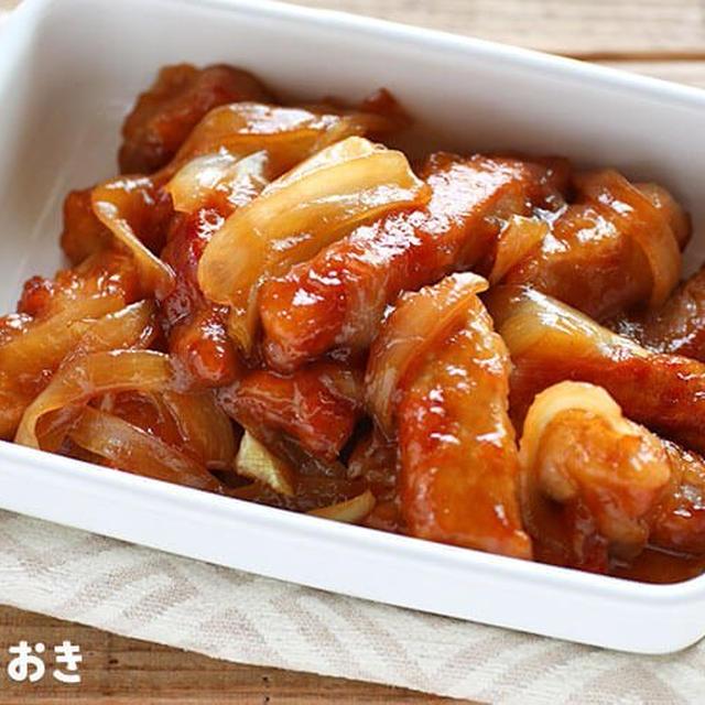 豚肉とたまねぎの甘酢炒め