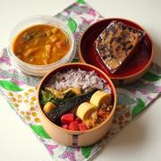 焼き魚とサンバルの和印折衷弁当。