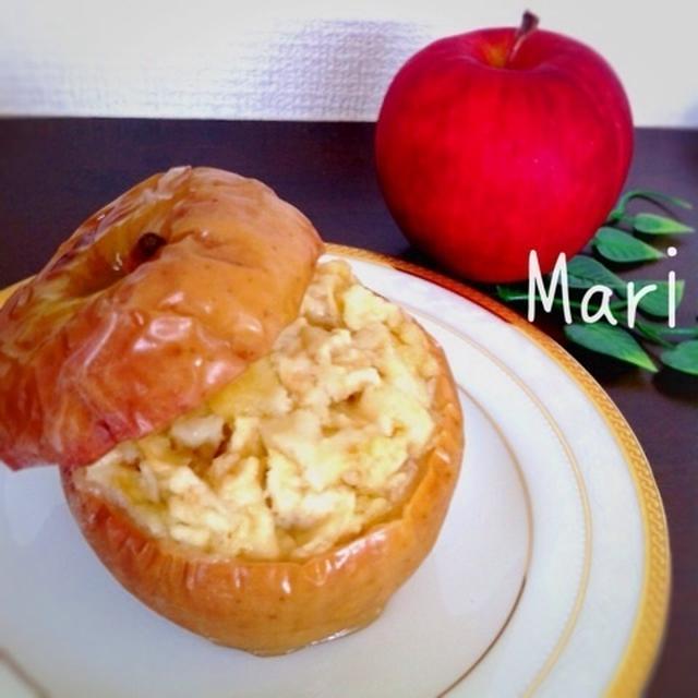 丸ごと頂く♪りんごのカップケーキ♡ / 食欲