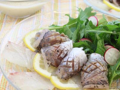 >食してムーチョ アジと鯛のカルパッチョサラダ by ウエルキッチンさん