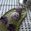 紫芋とココナッツのトリュフ