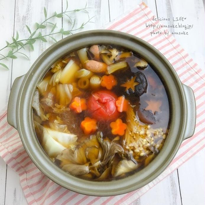 和洋風きのこトマト鍋