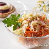 ブラウンライス de 和風ごまのコールスローサラダ。。。