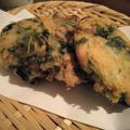 三つ葉とみょうがの大和芋揚げ by tanakaさん