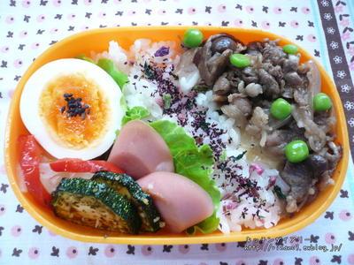 牛丼風弁当♪