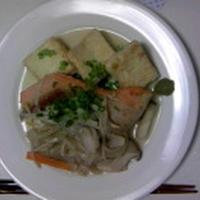 鮭と豆腐のきのこあん