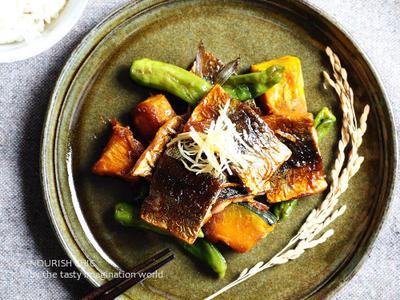 秋刀魚とかぼちゃの照り焼き煮