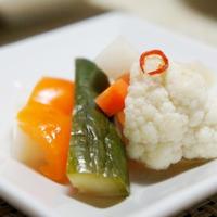 蛙の子は蛙。~リメイク坦々豆腐&和風ピクルス~
