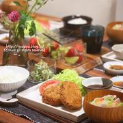 【献立】コロッケ&ミンチカツ定食。~どうやら今日は忙しいっぽい~