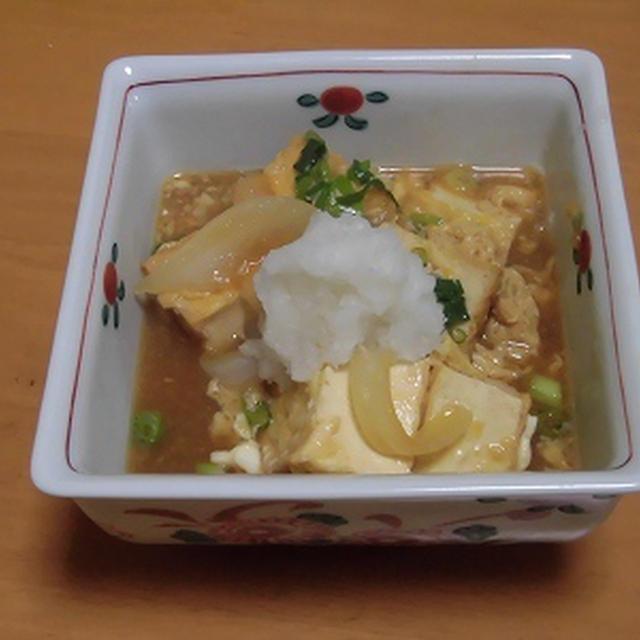 揚げだし豆腐と新タマネギの卵とじ・・・♪