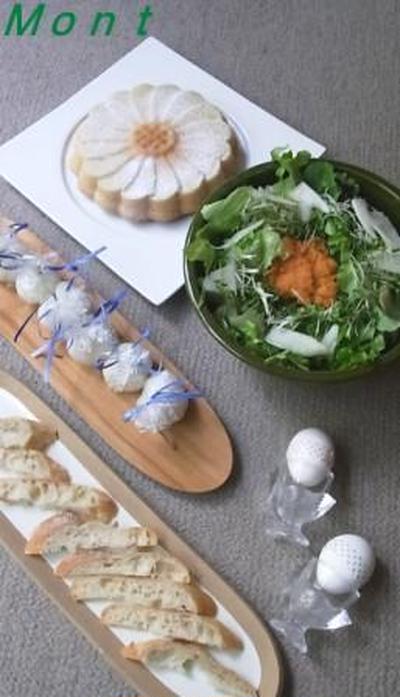 出会いのケーキ「マルグリット」と復活祭のゆで卵~greenさんの料理研究会~