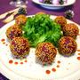 もちっ紫いものチーズごま団子☆トースターで簡単