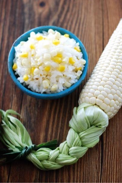 [レシピ]プチプチニッコリ☺︎塩味とうもろこしご飯♡